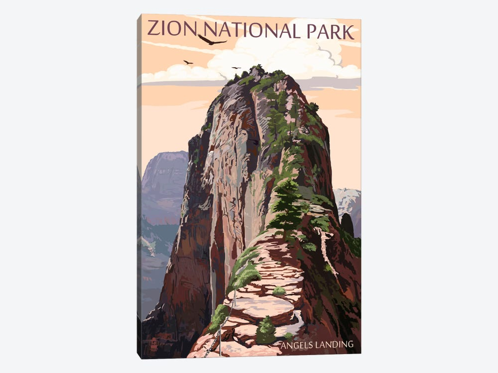 Zion National Park (Angels Landing II) 1-piece Canvas Wall Art