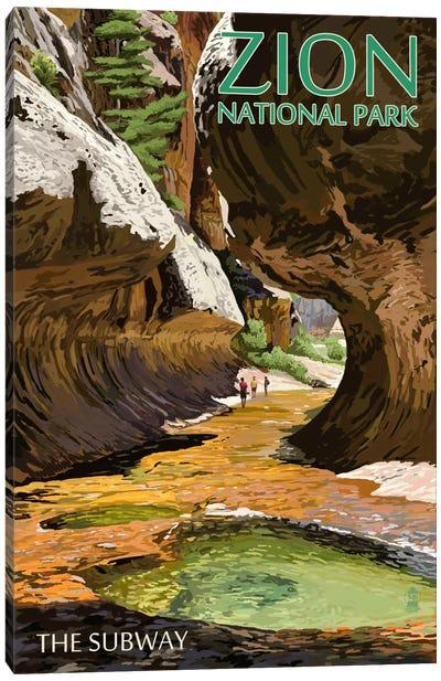 Zion National Park (The Subway) Canvas Art Print