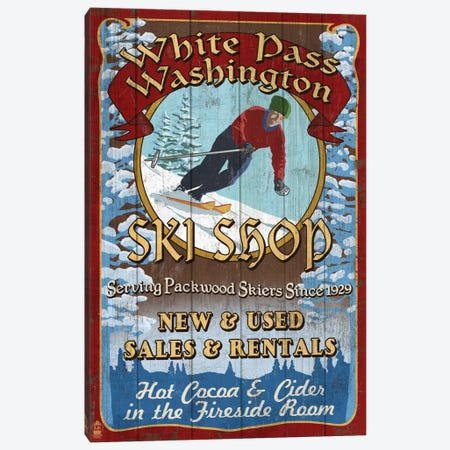 White Pass, Washington Canvas Print #LAN137} by Lantern Press Canvas Artwork