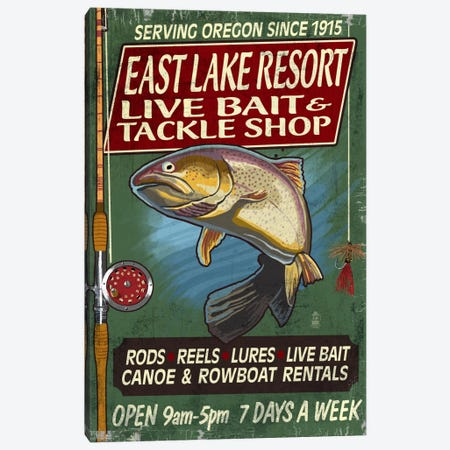 East Lake Resort, Oregon Canvas Print #LAN138} by Lantern Press Art Print