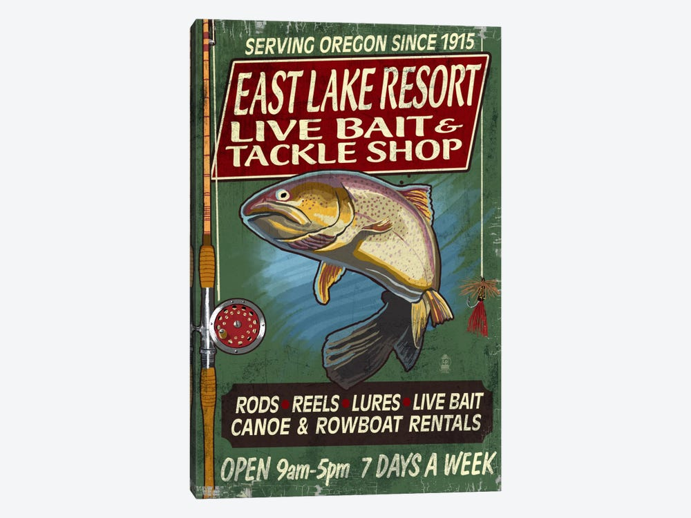East Lake Resort, Oregon by Lantern Press 1-piece Canvas Print
