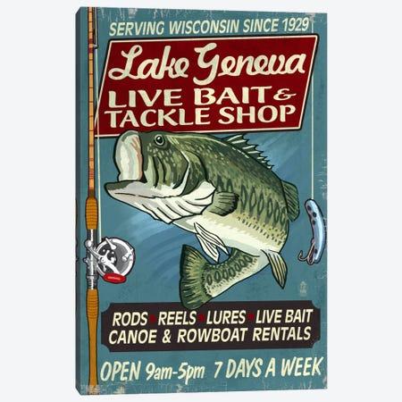 Lake Geneva, Wisconsin Canvas Print #LAN139} by Lantern Press Art Print