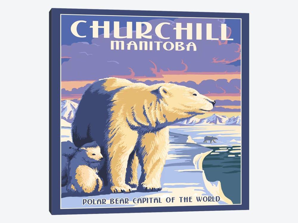 Churchill, Northern Region, Manitoba, Canada (Polar Bear Capital Of The World) by Lantern Press 1-piece Canvas Print