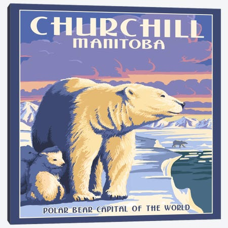 Churchill, Northern Region, Manitoba, Canada (Polar Bear Capital Of The World) Canvas Print #LAN13} by Lantern Press Canvas Artwork