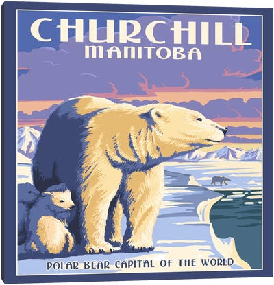 Churchill, Northern Region, Manitoba, Canada (Polar Bear Capital Of The World) Canvas Print #LAN13