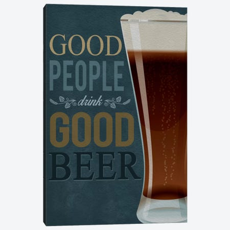 Good People Canvas Print #LAN143} by Lantern Press Canvas Art