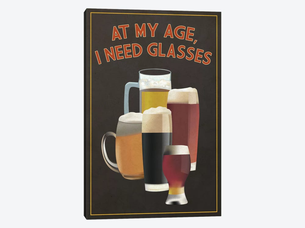 I Need Glasses by Lantern Press 1-piece Canvas Art