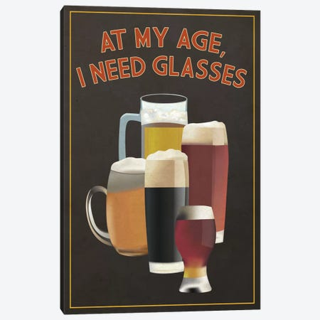I Need Glasses Canvas Print #LAN144} by Lantern Press Art Print