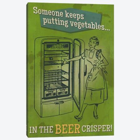 Vegetables In The Crisper Canvas Print #LAN149} by Lantern Press Canvas Artwork