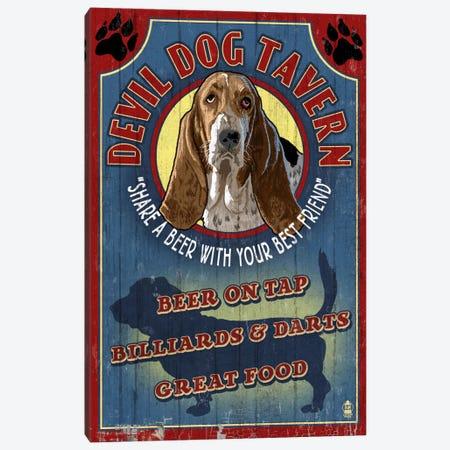 Devil Dog Tavern Canvas Print #LAN14} by Lantern Press Canvas Print