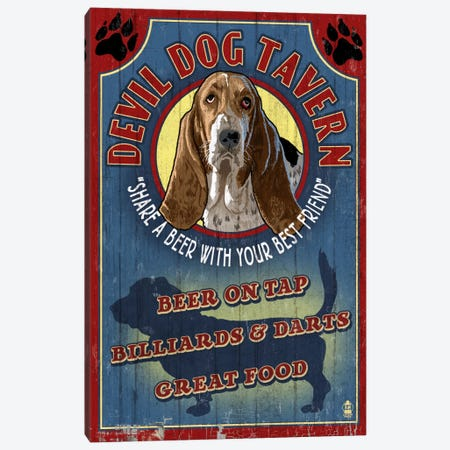 Devil Dog Tavern Canvas Print #LAN14} by Lantern Press Canvas Print