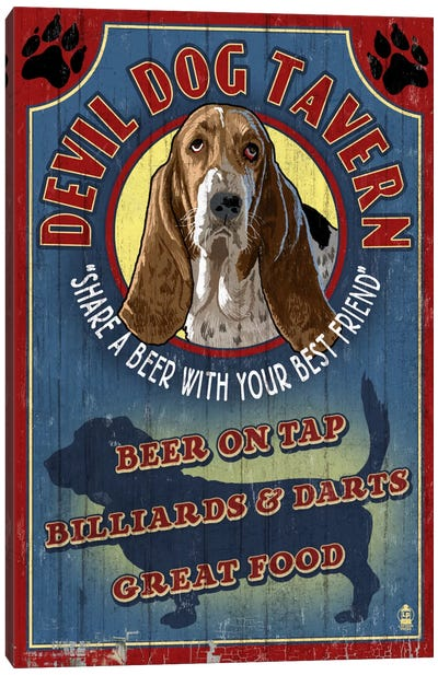 Devil Dog Tavern Canvas Art Print