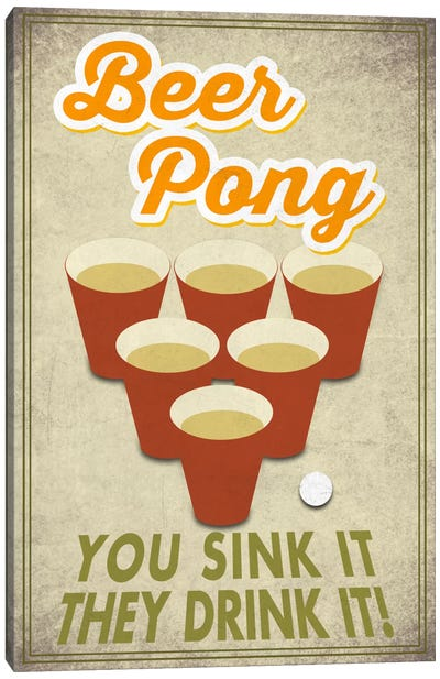 Witty Beer Series: You Sink It, They Drink It! Canvas Art Print