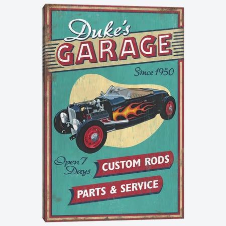 Duke's Garage Canvas Print #LAN15} by Lantern Press Art Print