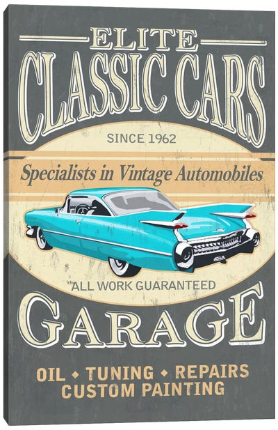 Elite Classic Cars Garage Canvas Art Print