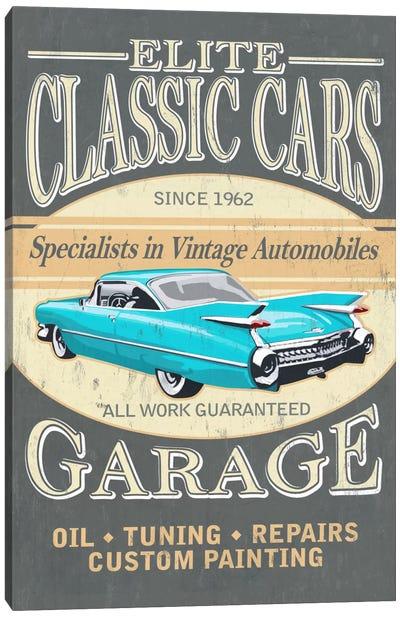 Elite Classic Cars Garage Canvas Print #LAN16