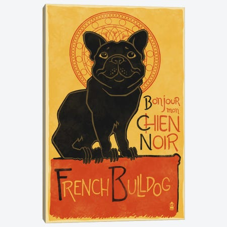 French Bulldog Canvas Print #LAN19} by Lantern Press Canvas Art