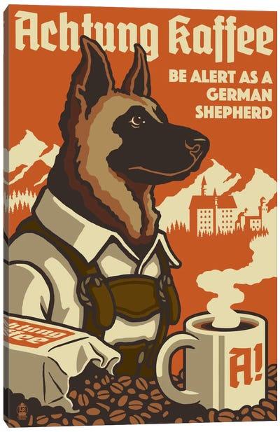 Achtung Kaffee Canvas Art Print