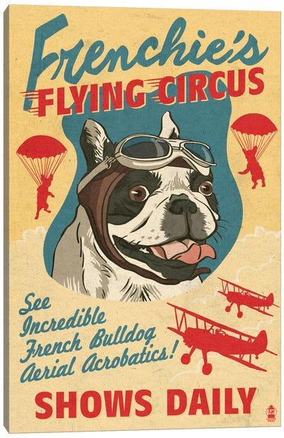 Frenchie's Flying Circus Canvas Art Print