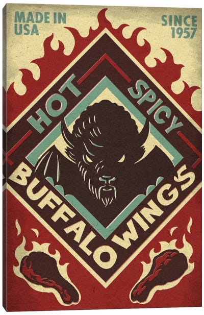 Hot & Spicy Buffalo Wings Canvas Art Print