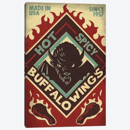 Hot & Spicy Buffalo Wings 3-Piece Canvas #LAN23} by Lantern Press Art Print