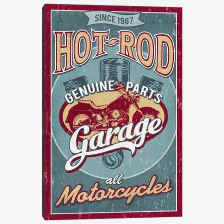 Hot Rod Garage I (Motorcycles) Canvas Print #LAN24} by Lantern Press Canvas Art
