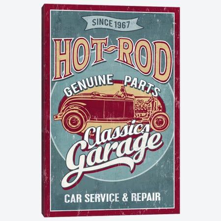 Hot Rod Garage II (Automobiles) Canvas Print #LAN25} by Lantern Press Canvas Wall Art