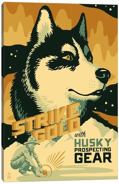 Husky Prospecting Gear Canvas Art Print