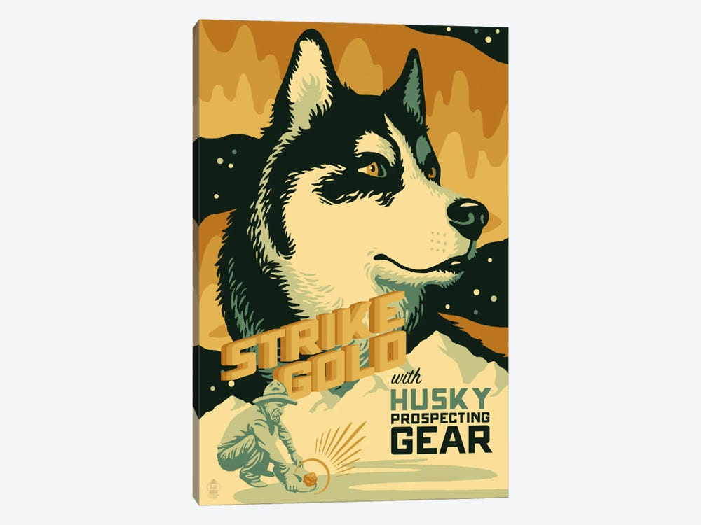 Husky Prospecting Gear by Lantern Press 1-piece Canvas Art