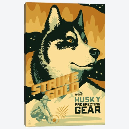 Husky Prospecting Gear Canvas Print #LAN29} by Lantern Press Canvas Print