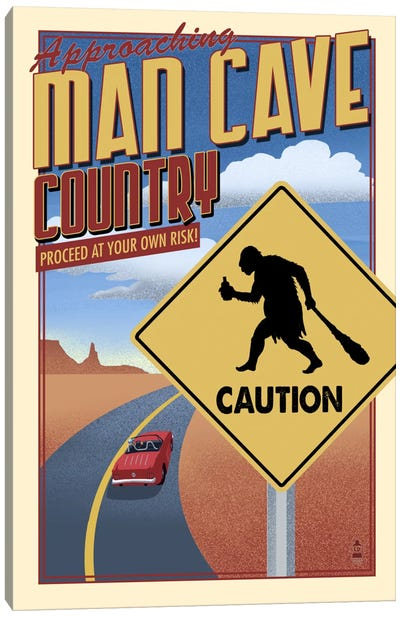Approaching Man Cave Country Canvas Print #LAN2