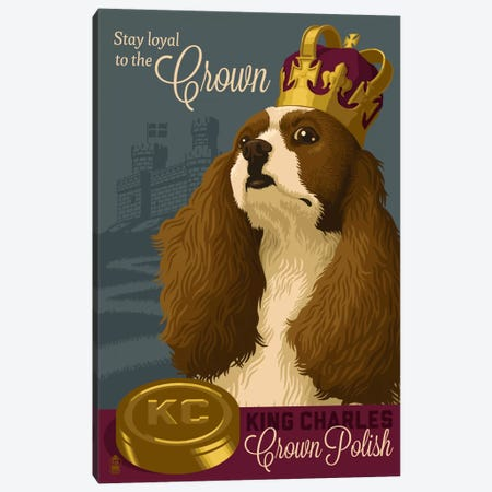 King Charles Crown Polish Canvas Print #LAN32} by Lantern Press Canvas Artwork