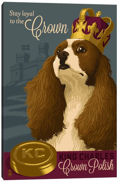 King Charles Crown Polish Canvas Art Print