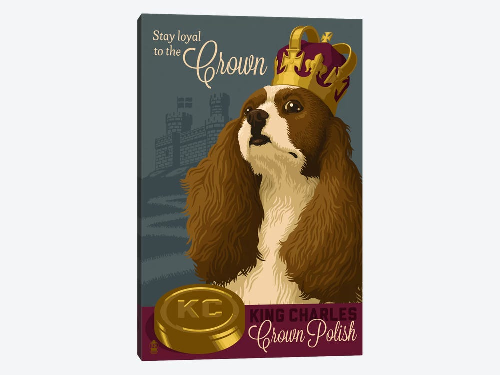 King Charles Crown Polish by Lantern Press 1-piece Canvas Wall Art