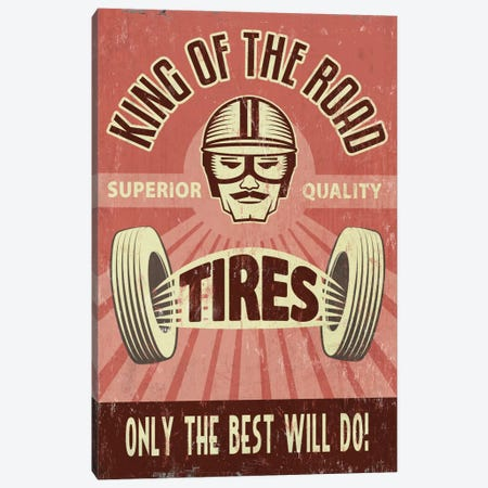 King Of The Road Tires Canvas Print #LAN33} by Lantern Press Canvas Art