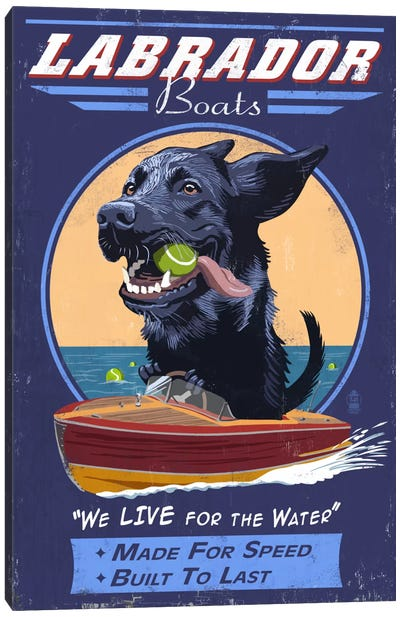 Labrador Boats Canvas Art Print