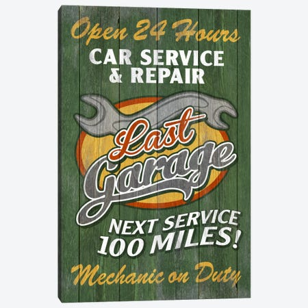 Last Garage Canvas Print #LAN36} by Lantern Press Art Print