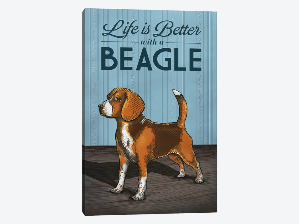 Life Is Better With A Beagle by Lantern Press 1-piece Canvas Print