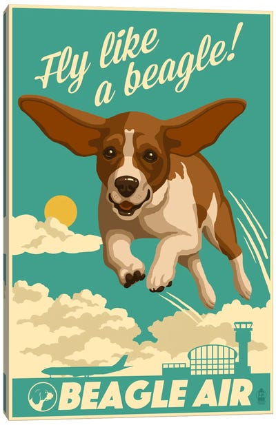 Beagle Air Canvas Print #LAN3