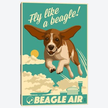 Beagle Air Canvas Print #LAN3} by Lantern Press Canvas Artwork