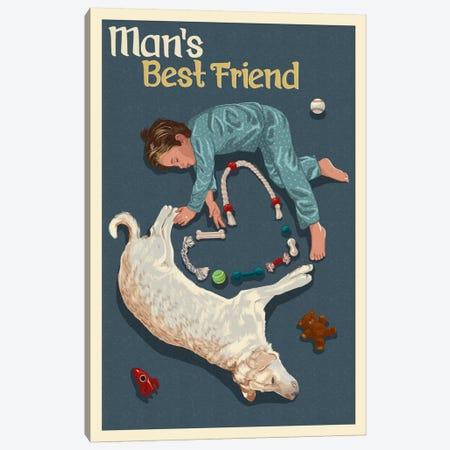 Man's Best Friend 3-Piece Canvas #LAN41} by Lantern Press Art Print