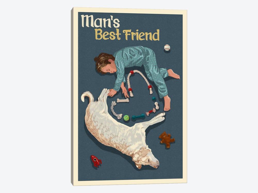 Man's Best Friend by Lantern Press 1-piece Canvas Artwork