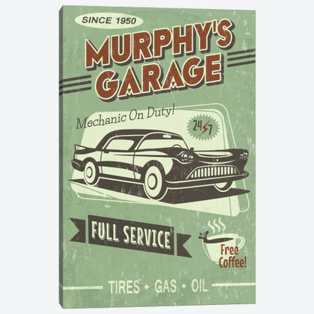 Murphy's Garage Canvas Print #LAN42} by Lantern Press Canvas Print