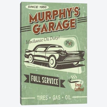 Murphy's Garage Canvas Print #LAN42} by Lantern Press Canvas Print