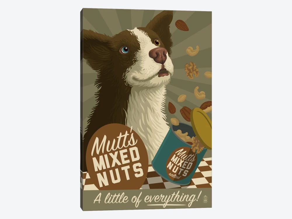 Mutt's Mixed Nuts by Lantern Press 1-piece Canvas Wall Art