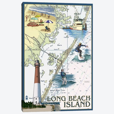 Long Beach Island Canvas Print #LAN45} by Lantern Press Canvas Art