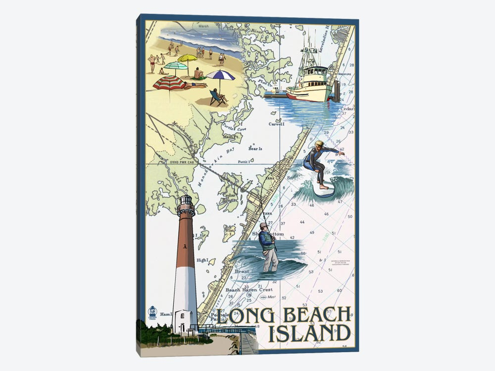 Long Beach Island 1-piece Canvas Wall Art