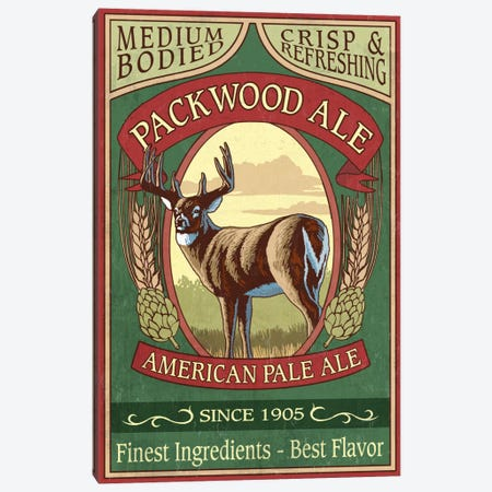 Packwood Ale Canvas Print #LAN46} by Lantern Press Canvas Art