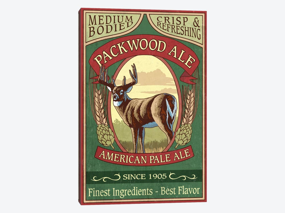 Packwood Ale by Lantern Press 1-piece Canvas Print