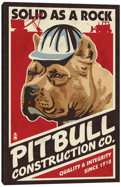 Pit Bull Construction Co. Canvas Art Print